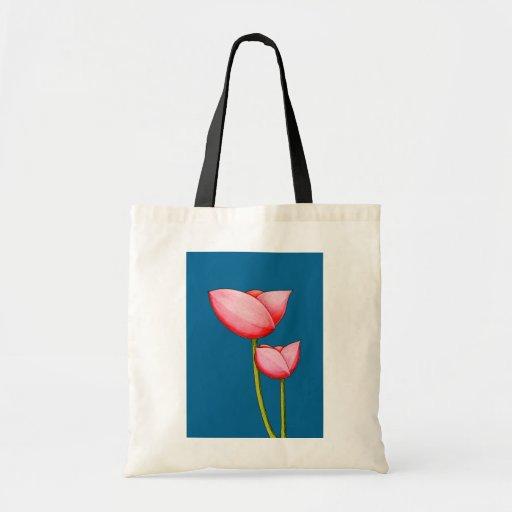 Simple Flowers blue Bag