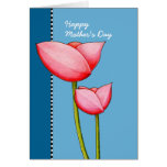 Simple Flowers blue Mother's Day Card