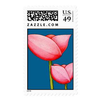 Simple Flowers blue Stamp