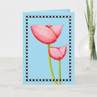 Simple Flowers Card card