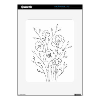 Simple Flowers Decal For iPad