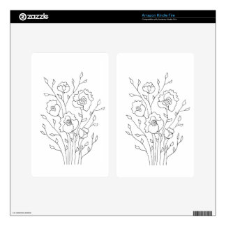 Simple Flowers Decals For Kindle Fire