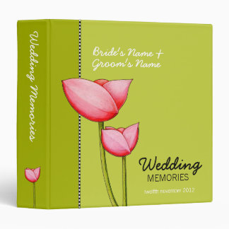 Simple Flowers green 1 Wedding Memories Binder