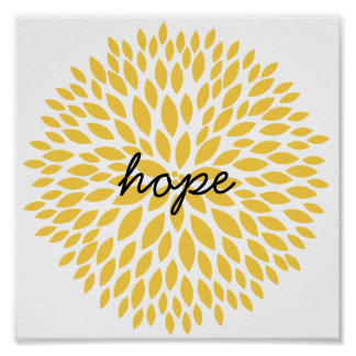 Simple Flowers Hope Poster