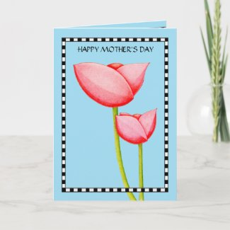 Simple Flowers Mother's Day Card card