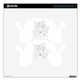 Simple Flowers PS3 Controller Skin