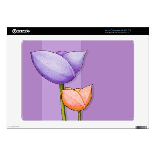 "Simple Flowers purple Acer Chromebook (11.6"") Skin Acer Chromebook Skin"