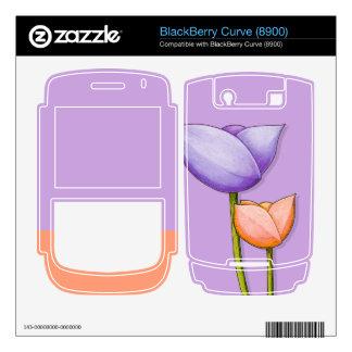 Simple Flowers purple Blackberry Curve 8900 Skin BlackBerry Skins
