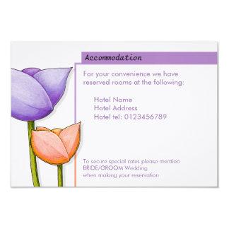 Simple Flowers purple orange white Enclosure Card