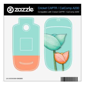 Simple Flowers teal CAPTR/CalComp A200 Skin Cricket CAPTR Skin