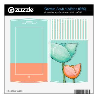 Simple Flowers teal Garmin-Asus nüvifone (G60) Garmin Asus Nuvifone Skins