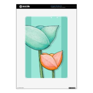 Simple Flowers teal Kindle DX Skin