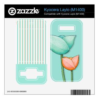 Simple Flowers teal Kyocera Laylo (M1400) Skin Kyocera Laylo Skin