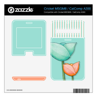 Simple Flowers teal MSGM8/CalComp A300 Skin Cricket MSGM8 Decal