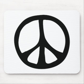Simple Flowing Peace Sign Mouse Mat