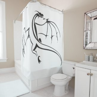 Simple Flying Dragon Shower Curtain