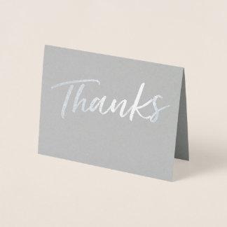 Simple Foil Thanks Card | Thank You Card