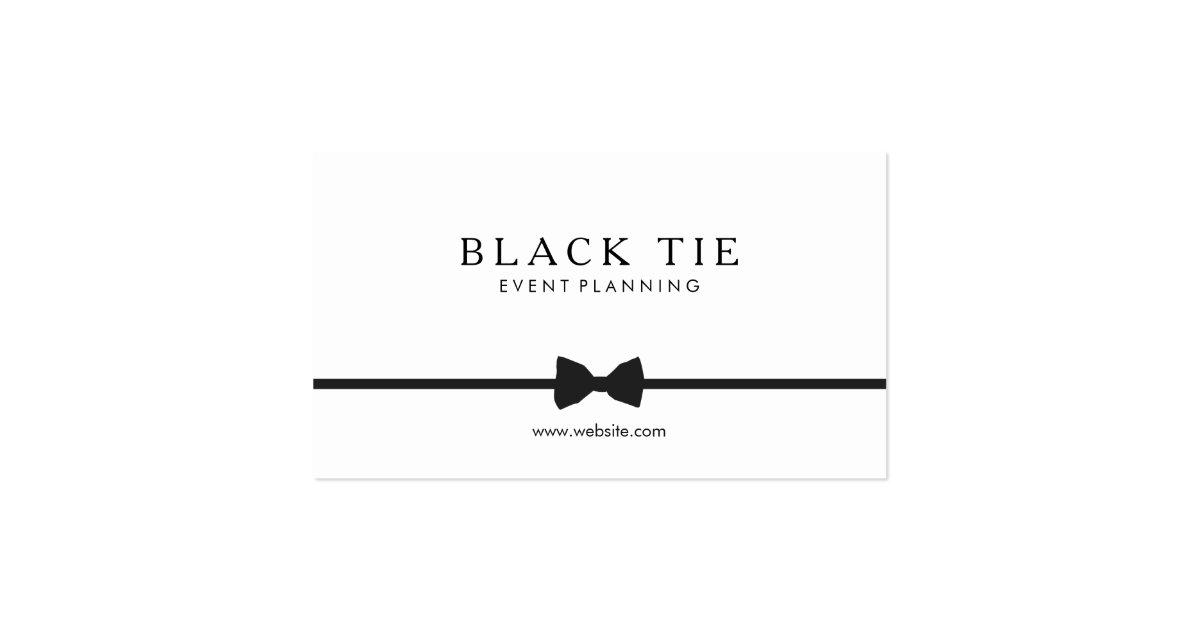 simple formal black tie event planner business card zazzle. Black Bedroom Furniture Sets. Home Design Ideas