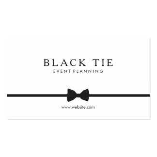 Simple Formal Black Tie Event Planner Double-Sided Standard Business Cards (Pack Of 100)