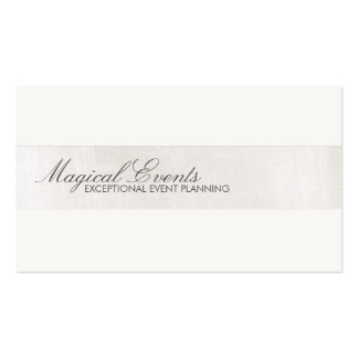 Simple Formal Wedding Consultant Silver Striped Business Card