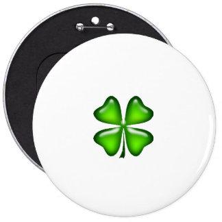 Simple Four Leaf Clover Irish St. Patrick's Day Pinback Button