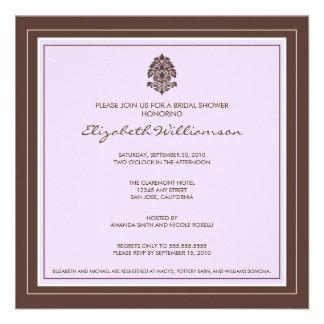 Simple Frame Bridal Shower Invitation lavender
