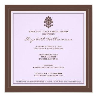 Simple Frame Bridal Shower Invitation (lavender)