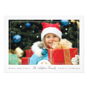 Simple Frame Holiday Photo Card