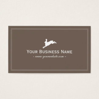 Simple Frame Plain Jumping Hare Business Cards