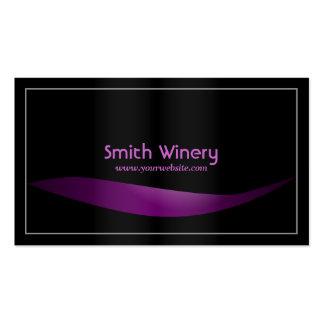 Simple Frame Purple Liquor Winery Business Card