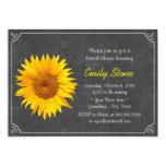 "Simple Frame Sunflower Chalkboard Bridal Shower 5"" X 7"" Invitation Card"