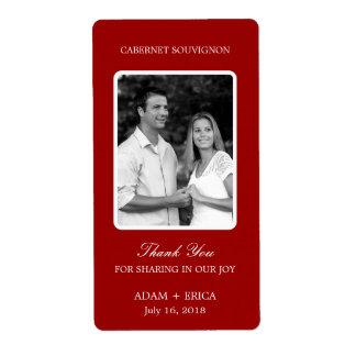Simple Frame Wedding Wine Labels