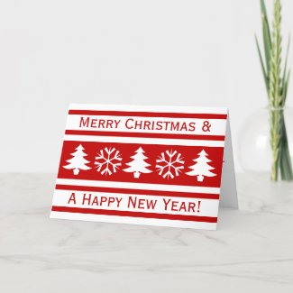 Simple friendly Christmas Holiday Card
