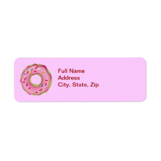 Simple Frosted Donut Return Address Label