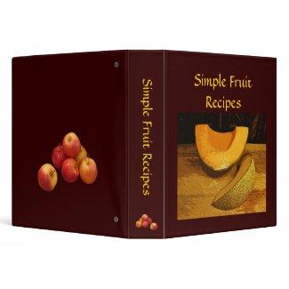 Simple Fruit Recipes Binders