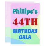 "[ Thumbnail: Simple, Fun ""44th Birthday Gala"" Invitation ]"
