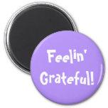 Simple Fun Feelin' Grateful Lavender Purple Magnet