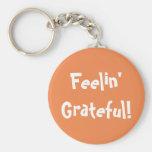 Simple Fun Feelin' Grateful Orange Keychain