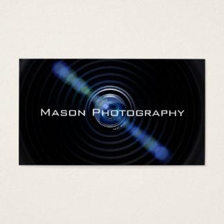 Simple, Generic Black Photographer Business Card