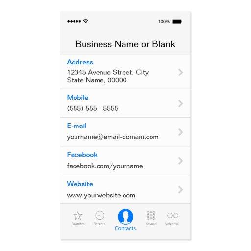Simple Generic Flat UI Style - Unique Designed Business Cards (back side)