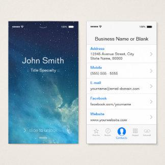 Simple Generic Flat UI Style - Unique Designed Business Card