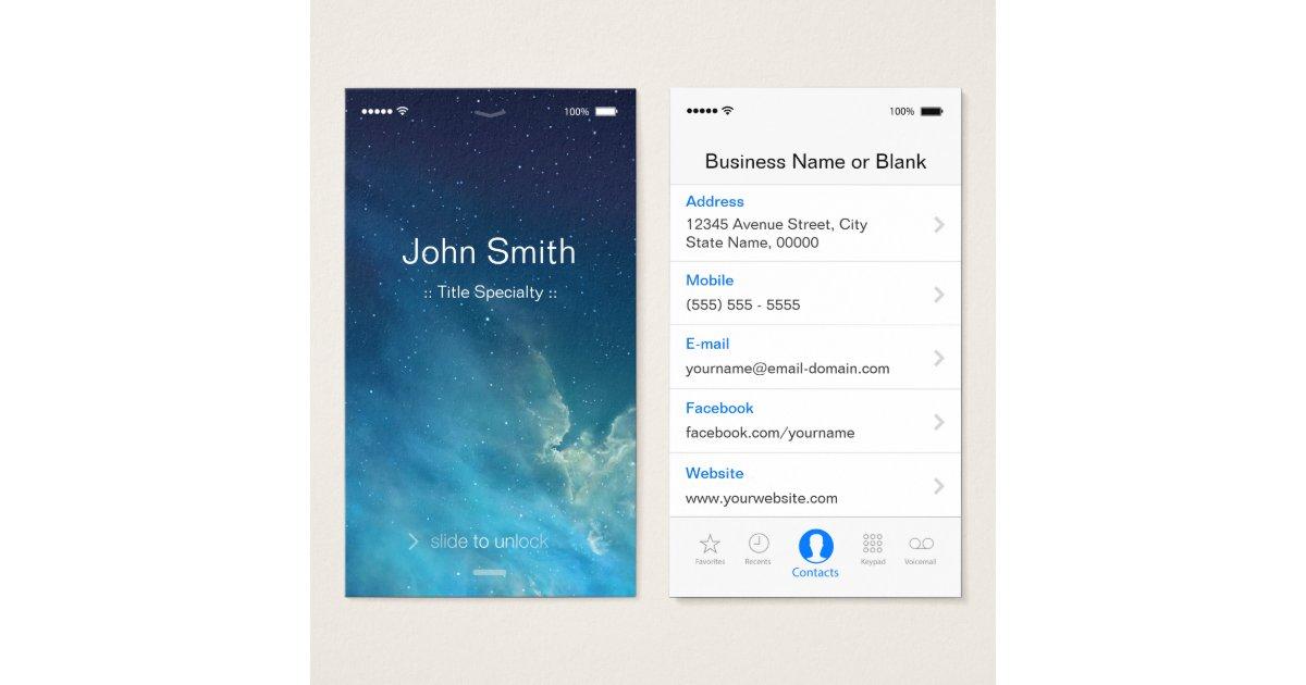 Smartphone Business Cards & Templates   Zazzle