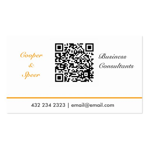 Simple Generic  QR Code Neutral Business Card Template