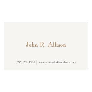 Simple Gentleman's Vintage Wood Backside Business Card