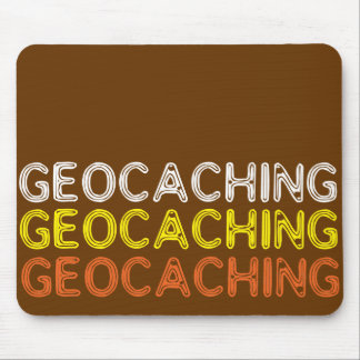 Simple Geocaching Wording Mouse Pad