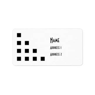 Simple Geometric Motif Address Label