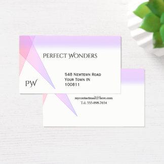 Simple Geometric Purple Business Cards