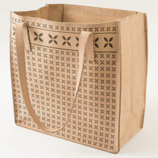 Simple geometric Repeated Pattern Floral Effect Tote
