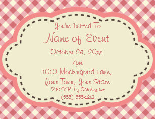 simple generic invitations announcements zazzle