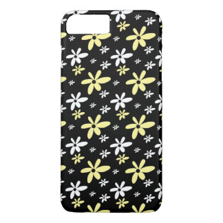 Simple Girly Ditsy Floral Pattern : Black iPhone 8 Plus/7 Plus Case